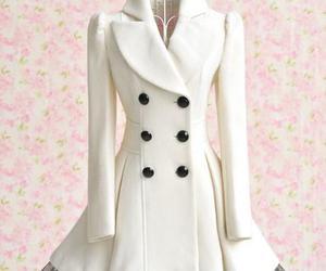 coat, white, and dress image