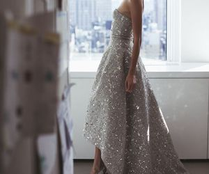 dress, glitter, and model image