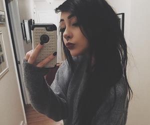 black hair, indie, and girl image