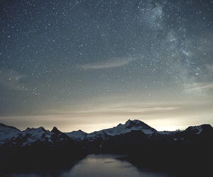 stars, night, and mountains image