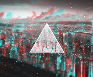 city, triangle, and wallpaper image