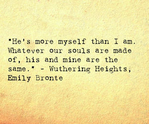 emily bronte, His, and souls image