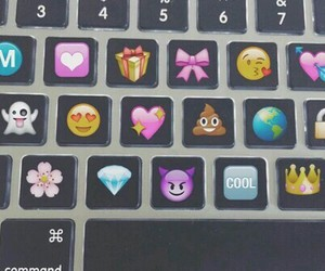 emoji, keyboard, and tumblr image