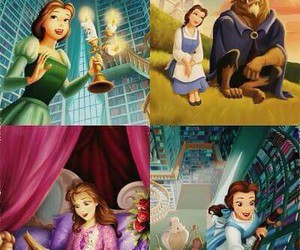 beast, belle, and the beauty and the beast image