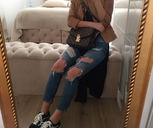 fashion, Louis Vuitton, and school outfit image