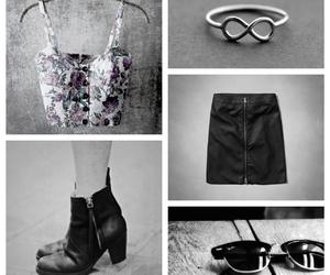 black, glasses, and grey image