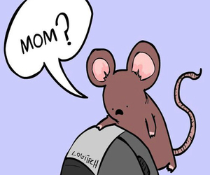 mouse, funny, and mom image