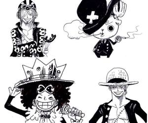 one piece, chopper, and luffy image
