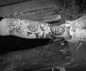 ink, sleeve, and tattoo image