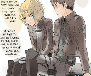 jean, snk, and armin image