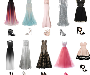 dress, night, and Prom image