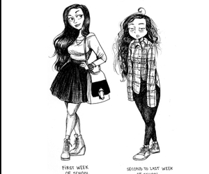 drawing, school, and funny image