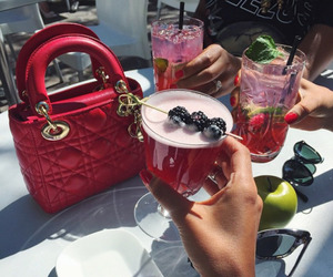 drink, dior, and red image