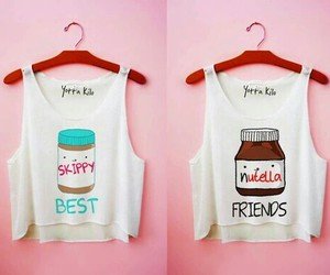 nutella, friends, and best friends image