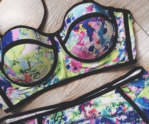 bikini, triangl, and summer image