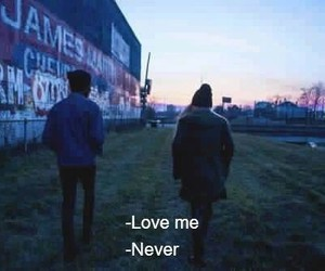 love, never, and grunge image
