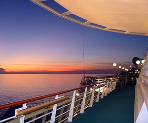 cruise, deck, and ocean image