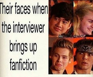 fanfiction, luke hemmings, and 5sos image