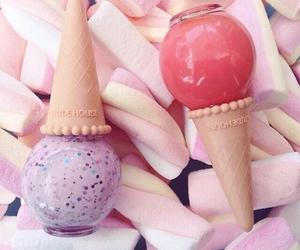 make up, nails, and ice cream image