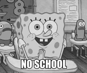 school, spongebob, and no school image