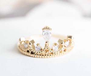 crown, ring, and diamond image