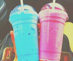 pink, blue, and drink image