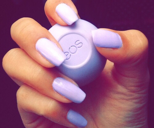 nails, eos, and purple image