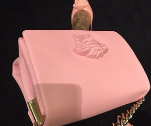 pink, bag, and heels image