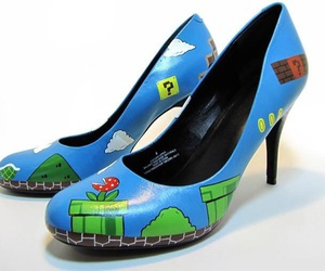 shoes, mario, and game image