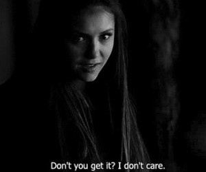 Nina Dobrev, the vampire diaries, and quote image