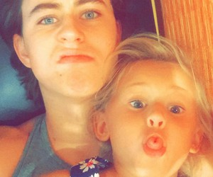 nash grier, skylynn, and brother image