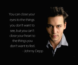 johnny depp, quote, and life image