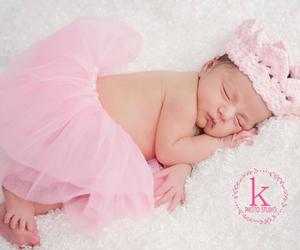 baby, baby girl, and newborn image