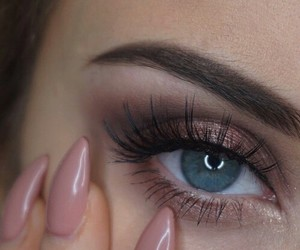 makeup, nails, and eyes image