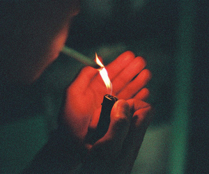 cigarette, fire, and lighter image