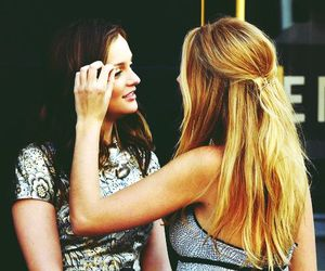 leighton meester, blake lively, and gossip girl image