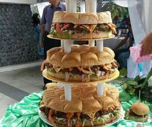 burger, cake, and food image
