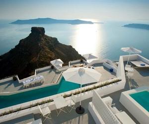 Greece, luxury, and pool image