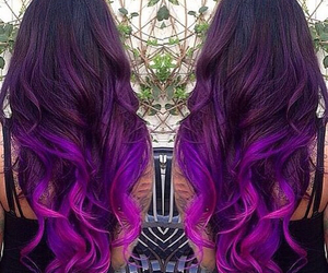 beautiful, hair, and purple image