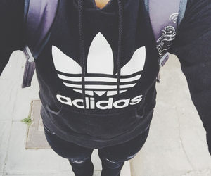 adidas, black, and me image