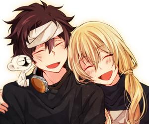 anime, couple, and kekkai sensen image