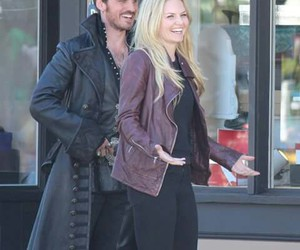 Jennifer Morrison, once upon a time, and captain hook image