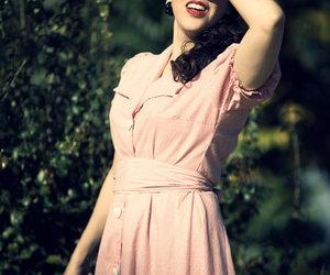 dress, stripes, and vintage image