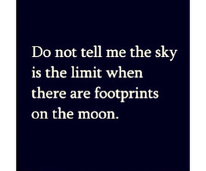quote, moon, and sky image