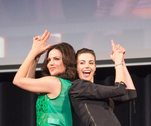 meghan ory, lana parrilla, and ouat cast image