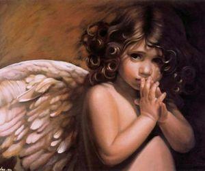 angel, little, and faith image