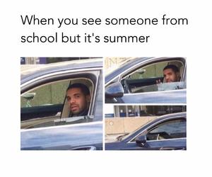 funny, school, and Drake image