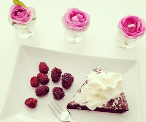 food, cake, and fruit image