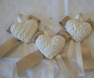 heart, rose, and white image