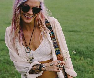 hippie, girl, and hipster image